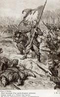 CPA Guerre 14 Styka Mort Héroïque Porte-drapeau Polonais - War 1914-18