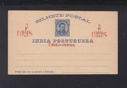 Portugal India Stationery Overprint - Postal Stationery