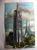 Carte Postale Bordeaux (33) La Tour Pey-Berland Et La Cathedrale ( Petit Format Couleur Circulée ) - Bordeaux