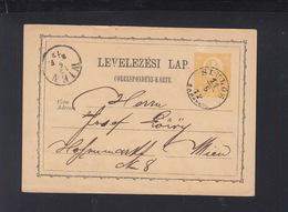 Hungary Stationery 1872 Siklos To Vienna - Hungary