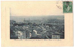 MARSEILLE : PANORAMA PRIS DU HAUT DE NOTRE DAME DE LA GARDE - Cadre Relief - Circulé CUXAC CABARDES - Marseille