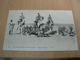 CP01/ EGYPTE SCENES TYPES SOLDATS EGYPTIENS / CARTE NEUVE - Andere