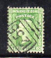 APR68 - NEW SOUTH WALES GALLES 1882 , Yvert N. 47 Usato Dentellato 12x11  (Gibbons N. 228d) - Usati