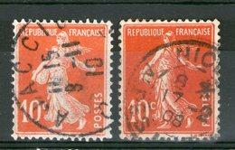 "N° 138°_Effigie ""blanche""-Ajaccio 1910_Rouge Sang NICE 1908 - 1906-38 Semeuse Camée"