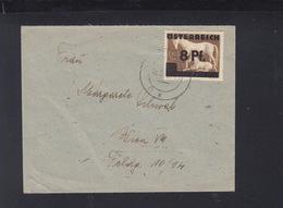 Österreich Brief Wien 1945 Aufdruck - 1945-60 Briefe U. Dokumente