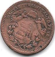 *hungary 1 Krajczar 1868 Km 444.1  Vf - Hungría