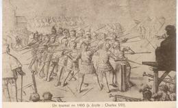 Un Tournoi En 1493 (à Droite : Charles VIII) - Equipement