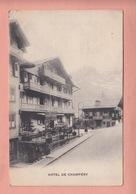 OUDE POSTKAART ZWITSERLAND -  SCHWEIZ - SUISSE -  HOTEL DE CHAMPERY - VS Valais