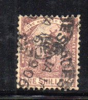 APR1195 - NEW SOUTH WALES GALLES 1888 , Yvert N. 64 Usato . Fil NSW INVERTED - Usati