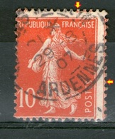 N° 135° _Double Piquage Sur Rouge Vif - 1906-38 Sower - Cameo