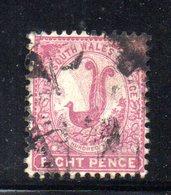 APR1199 - NEW SOUTH WALES GALLES 1888 , Yvert N. 63 Usato . Fil NSW - Usati
