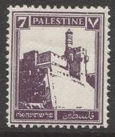 Palestine, British Mandate 1932 - SG105, 7m - Architecture, Fortress/Citadel On Stamp - MLH - Palestine