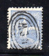 APR1201 - NEW SOUTH WALES GALLES 1891 , Yvert N. 73 Usato . Fil NSW  INVERTED - Usati