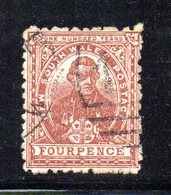 APR1202 - NEW SOUTH WALES GALLES 1888 , Yvert N. 61 Usato . Fil NSW  INVERTED - Usati