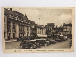 CPA, Animée Angoulême, La Place Bouillaud Et Chambre De Commerce,écrite En 1914?, Timbre - Angouleme