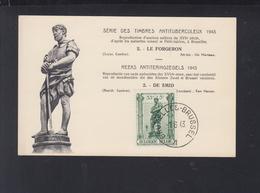 Belgien Maximumkarte Le Forgeron Antituberkulose 1943 - Maximumkarten (MC)