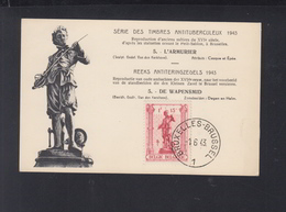 Belgien Maximumkarte L'Armurier Antituberkulose 1943 - Maximumkarten (MC)