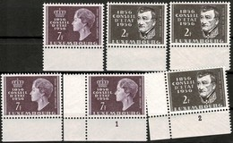 1956, 3 X Série Centenaire Du Conseil D'Etat, Neuf,  Michel 2019:559,560, Valeur: 16,50€ - Luxembourg