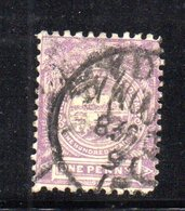 APR1203 - NEW SOUTH WALES GALLES 1888 , Yvert N. 59 Usato Dent 11x12. Fil NSW  INVERTED - Usati