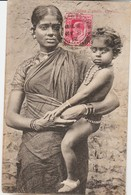 Ceylan Jaffna Tamils Jeune Femme Et Enfant 1912 - Sri Lanka (Ceylon)