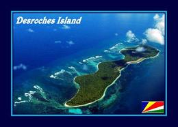 Seychelles Desroches Island Aerial View New Postcard Seychellen - Seychellen
