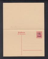 Romania German Occupation Stationery With Reply MViR Unused - Interi Postali