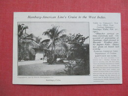 Private Mailing Card  1907 Cancel-  Santiago Cuba - Hamburg American Line's Cruise To The West Indies    Ref 3375 - Cuba