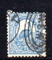 APR1207 - NEW SOUTH WALES GALLES 1888 , Yvert N. 60 Usato . Fil NSW  INVERTED - Usati