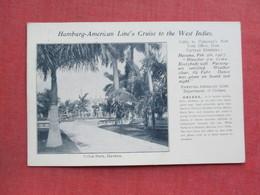 Private Mailing Card  1907 Cancel-  Havana  Cuba - Hamburg American Line's Cruise To The West Indies    Ref 3375 - Cuba