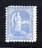 APR1208 - NEW SOUTH WALES GALLES 1891 , Yvert N. 73 Nuovo Senza Gomma . Fil NSW  INVERTED - 1850-1906 New South Wales