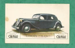 IMAGE CHOCOLAT CEMOI AUTO VOITURE VINTAGE WAGEN OLD CAR CARD CITROEN 15 CV - Other
