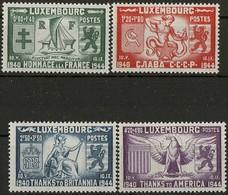 1945 Série Libération, Neuf,  Michel 2019: 343-346, Valeur: 1€ - Luxembourg