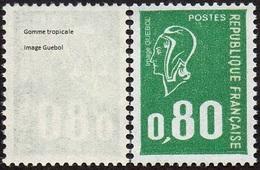 France N° 1891 C ** Marianne De Béquet - Variété Le 0f80 Vert Gomme Tropicale - Nuevos
