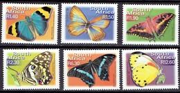 South Africa 2000 - Standard Set, Butterflies - Mi. 1301-02-03-05-08-10 - Yvert 1127P-U -  MNH, Neuf, Postfrisch - Zuid-Afrika (1961-...)