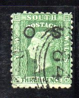 APR1209 - NEW SOUTH WALES GALLES 1879 , Servizio Yvert N. 3 Usato . Fil NSW - 1850-1906 New South Wales