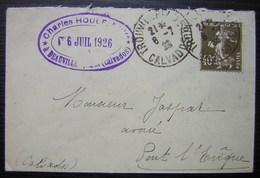 Deauville (Calvados) 1926 Charles Houlé, Notaire, Jolie Petite Lettre Pour Pont L'Evêque - Postmark Collection (Covers)
