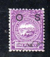 APR1212 - NEW SOUTH WALES GALLES 1888 , Servizio Yvert N. 21 Usato . Fil NSW - 1850-1906 New South Wales
