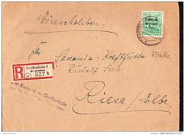 SBZ: R-Brief Mit 84 Pf SBZ-Aufdruck Auf Behördenpost OSt. GROßENHEIN (537 Vom 12.11.48 Vom Kreisrat  Knr: 197 - Zone Soviétique