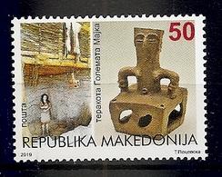MACEDONIA 2019,CULTURAL HERITRAGE,GREAT MOTHER TERRACOTA,ARHEOLOGY,MNH - Macedonia