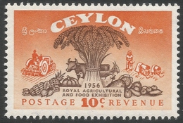 Ceylon. 1955 Royal Agricultural And Food Exhibition. 10c MNH. SG 436 - Sri Lanka (Ceylon) (1948-...)