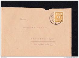 OPD: Orts-Brief Mit 8 Pf Ziffern Ostsachsen Gez. Aus DRESDEN Vom 9.12.45 Knr: 59 - Zone Soviétique