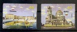 Macedonia, 2018, MACEDONIA IN EU,SOFIA,VIENNA,,,,MNH - Macedonia