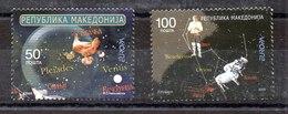 Serie De Macedonia Nº Yvert 485/86 ** ASTROFILATELIA (ASTROPHILATELY) - Macedonia