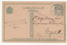 Hungary Croatia Postal Stationery Postcard Dopisnica Travelled 1917 Merkel Peter Feričanci To Osijek (censored) B190601 - Croatia
