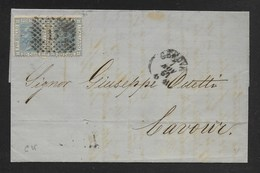 DA GENOVA A CAVOUR - 7.4.1867. - Marcophilia