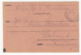Bosnia And Herzegovina WWI Military Postal Card Travelled 1917 Sarajevo To Dubrovnik B190601 - Bosnia And Herzegovina