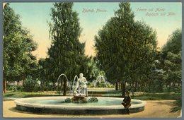 °°° Cartolina N. 142 Roma Pincio Vasca Col Mosè Deposto Sul Nilo Nuova °°° - Roma (Rome)