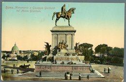 °°° Cartolina N. 143 Roma Monumento A Giuseppe Garibaldi Sul Monte Gianicolo Nuova °°° - Roma (Rome)