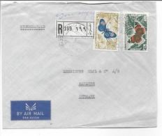 Lebanon Airmail. Registered.  Cover Sent To Denmark. H-648 - Lebanon