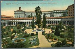 °°° Cartolina N. 144 Roma Museo Nazionale Antico Chiostro Col Giardino Michelangiolo Nuova °°° - Roma (Rome)